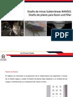UNAB Diseño Subterraneo 2018 Diseño de Pilares en Room and Pillar