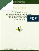 (40) (Autores, textos y Temas. Filosofía) Henry E. Allison-El idealismo trascendental de Kant_ una interpretación y defensa-Anthropos  _ Universidad Autónoma Metropolitana (1992).pdf