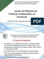 Introduccion de Politicas Ambiemtales de Honduras