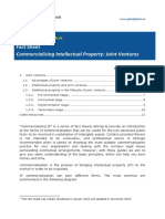 Fact Sheet Commercialising IP Joint Ventures