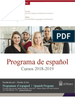 UOttawa - Spanish Program Brochure 2018-2019