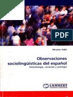 Observaciones sociolingüísticas del español- Vales