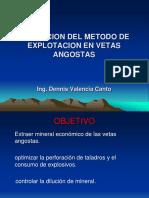 Metodo de Explotacion en Vetas Angostas Capacitacion