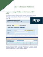 Ajuste de Campo Utilizando Variantes SHD0 SAP