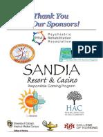 2018 PSRANM Conference sponsors