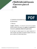 21-12-2016 La Quebrada Patrimonio de Guerrero Para El Mundo.