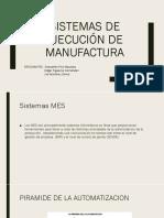 Sistemas de Ejecución de Manufactura