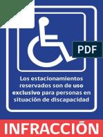 Volante Informativo Estacionamientos Reservados Para PSD
