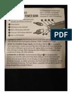 Randomorder Power Bank Instructions