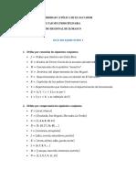 Guía de Ejercicios 1