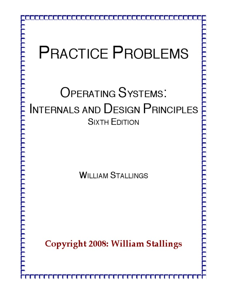 Practiceproblems Os6e Scheduling Computing Input Output