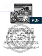 BW Peoples College of Law Scholarship Fundraiser
