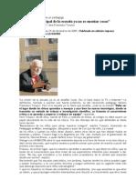'08 tonucchi Polémica definición de un pedagogo