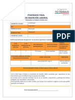 Itinerario Final de Insercion Laboral (Pci)