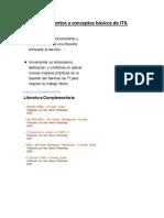 Fundamentos y Conceptos ITIL