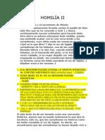 Homilía II textos teologicos