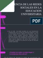 Influencia de Las Redes Sociales en La Educacion