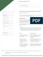 Función de Autocorrelación (ACF) - Minitab