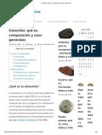 Dolomita_ Qué Es, Composición y Usos Generales