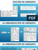 La Urbanización de Arequipa