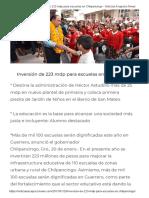 20-01-2017 Inversión de 223 Mdp Para Escuelas en Chilpancingo.