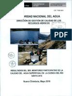 Monitoreo Cuenca Del Rio Santa 2015