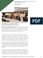 24-01-2017 Formalizan La Puesta en Marcha Del 911 Con Número de Emergencias en Guerrero.