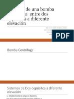 Potencia de Una Bomba Centrifuga Entre Dos Depósitos