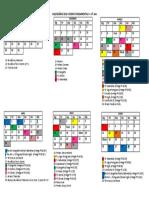 Calendário 2018- Ensino Fund. 2 - 6º Ano