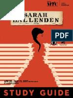 Sarah Ballenden Study Guide