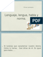 Lenguaje Lengua Habla y Norma
