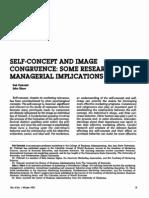 Self-concept and Image Congruence Sak Onkvisit_1987_jcm