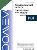 Daewoo Lcd Tv Dlx-37-42c7 (Sl-300v Chassis) Sm