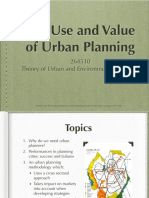Use & Value of Urban Planning
