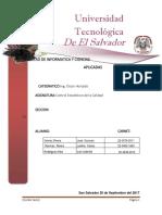 1° AVANCE DE  CONTROL ESTADISTICO SEP-17