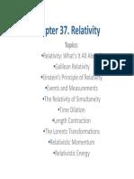 Chapter 37 Relativity