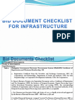Bid Document Checklist
