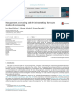 Nielsena, L. B., Mitchell, F., N++rreklit, H. 2015 MA and decision making in outsourcing
