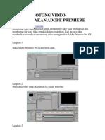 Cara Memotong Video Menggunakan Adobe Premiere