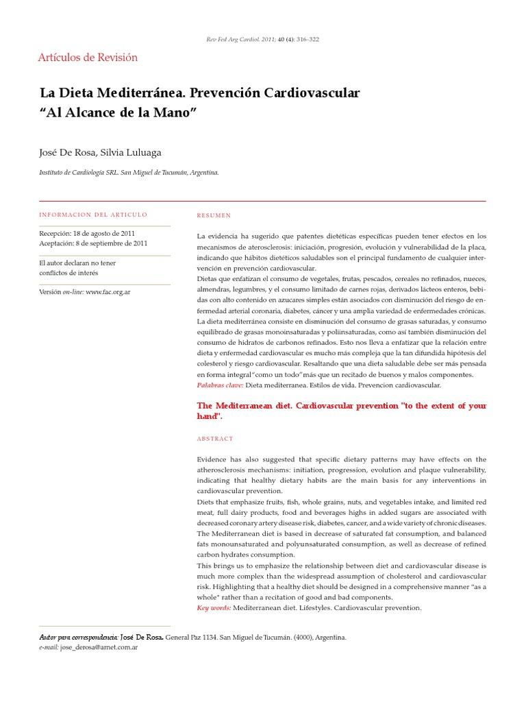 Dieta Mediterranea - Hipertensión - Aceite de oliva..