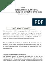 CLASE 6. CICLO BIOGEOQUIMICO, NUTRIENTES, OXIGENO, NIROGENO, HIDROLOGICO, CARBONO.pptx.pptx