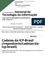 Cadeias Da ICP-Brasil - Instituto Nacional de Tecnologia Da Informação