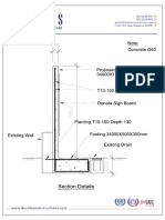 Double S-Retaining Wall Section Detail Drawing(2)