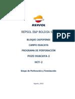 Programa de Perforación HCY 2