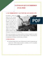 Desastres Que Ocurrieron en El Peru Para Profesorateoria