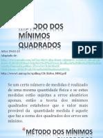Metodo Dos Minimos Quadrados