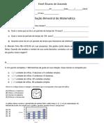Avaliação de Matematica- Alvares