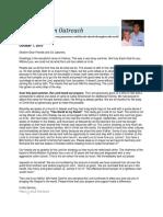 2010 October Prayer Letter