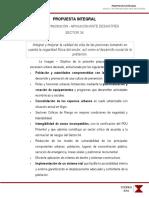 PROPUESTA INTEGRAL  SOCIAL Y DE PREVENCIÓN – MITIGACIÓN ANTE DESASTRES SECTOR 34-PIMENTEL