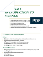 Chapter 1 - Introduction to Science